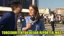 Polêmica Torcedor tenta beijar repórter da Globo Sportv que fica revoltada com a situação