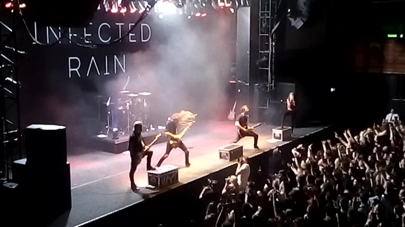 Infected Rain - Stain of mind Peculiar kind of sanity (Live in Moscow ГЛАВCLUB 03.06.2018)