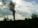 Пожар на ул Ильина видно даже с ул Промышленной