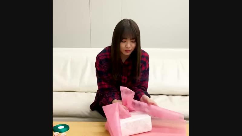 今日はバレンタインデイということで小林由依さんからこんな贈り物が🎬 「前日準備篇」。