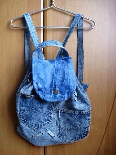 Рюкзак из старых джинсов своими руками пошаговое