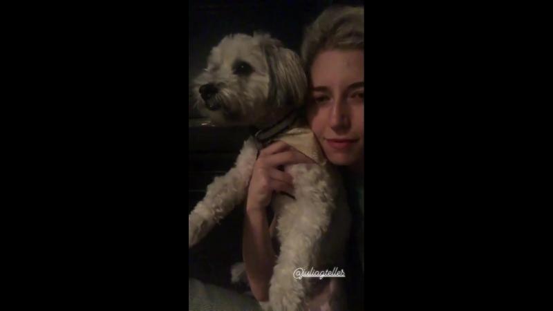 Джулия провела время в компании своих подруг 23 июня 2018