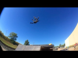 Another World's First from Kyle Heaser: Double Fork Grab to Nothing Backflip. BMX at The Factory