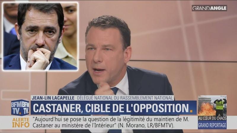 JL.Lacapelle:«Si Castaner avait un peu d'honneur,il proposerait sa démission» (BFMTV,18/03/19,23h12)