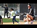 6 марта 2018: играя в бейсбол с сестрами, Лос-Анджелес | 2018