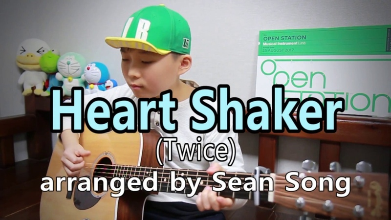 Heart Shaker - TWICE(트와이스) fingerstyle guitar arranged cover by 10-year-old kid Sean Song