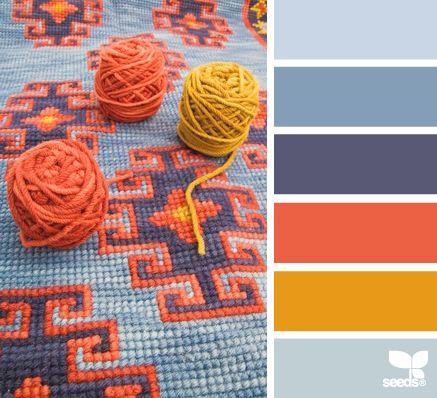Сочетания цветов при вязании