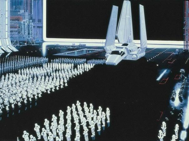 Знаменитая эпопея Звездные войны была отрисована вручную. Все пейзажи, локации и фоны созданы профессиональными
