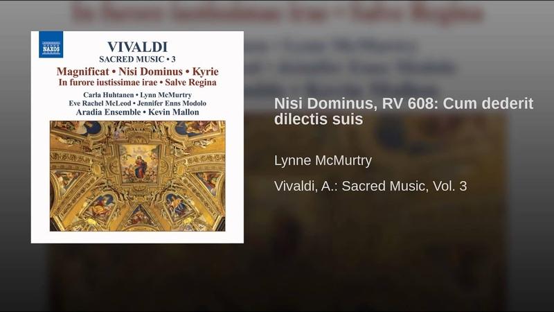 Nisi Dominus, RV 608: Cum dederit dilectis suis