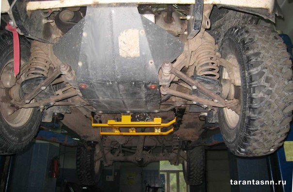 Защита двигателя 2121 своими руками 93