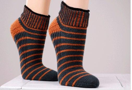 Вязание коротких носков спицами для занятий спортом…. (4 фото) - картинка