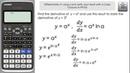Differentiate a^x (aˣ) using e use Casio fx-991EX to verify | A-Level Maths | Classwiz Calculator