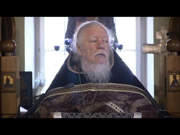 Протоиерей Димитрий Смирнов Проповедь о причащении Святых Христовых Таин