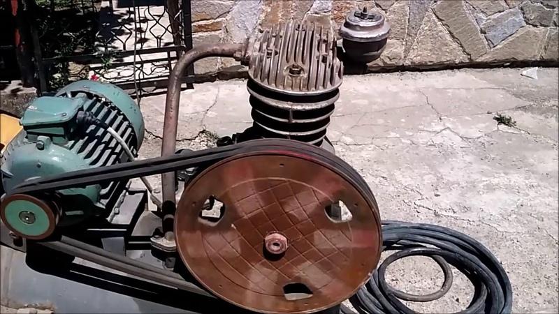 Компрессор СО 7б запуск двигателя с 380 на 220 вольт