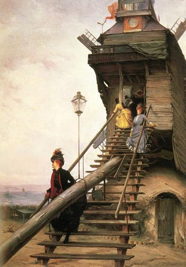 МУЛЕН-ДЕ-ЛА-ГАЛЕТТ ВДОХНОВЕНИЕ ИМПРЕССИОНИСТОВ Мулен-де-ла-Галетт одна из двух ветряных мельниц, сохранившихся на Монмартре. Еще в конце XVIII в. их было около тридцати, и они своими крыльями