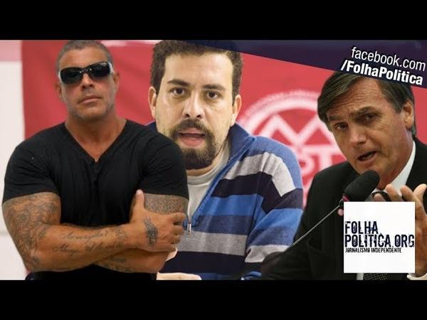 Alexandre Frota coloca Guilherme Boulos 'contra a parede' após ameaça a Bolsonaro