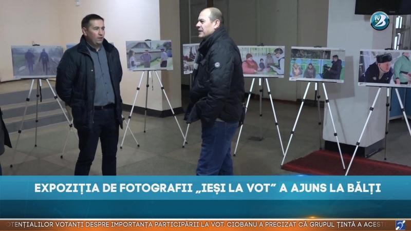 """EXPOZIȚIA DE FOTOGRAFII """"IEȘI LA VOT"""" A AJUNS LA BĂLȚI"""