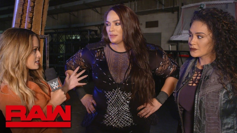 Nia Jax gets brutally honest about Sasha Banks Raw Exclusive, Nov. 19, 2018