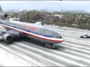 Funny airplane landing on highway (high quality) - Must watch!