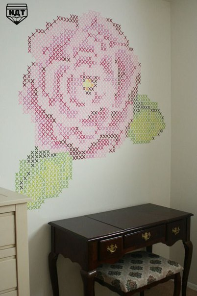 Декор стен узором (7 фото)