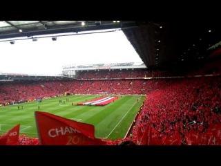 Man utd fans singing at old Trafford