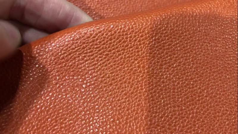 Кожа КРС фабрика MASTROTTO с фактурой цвет тёмно оранжевыйНовый проект55