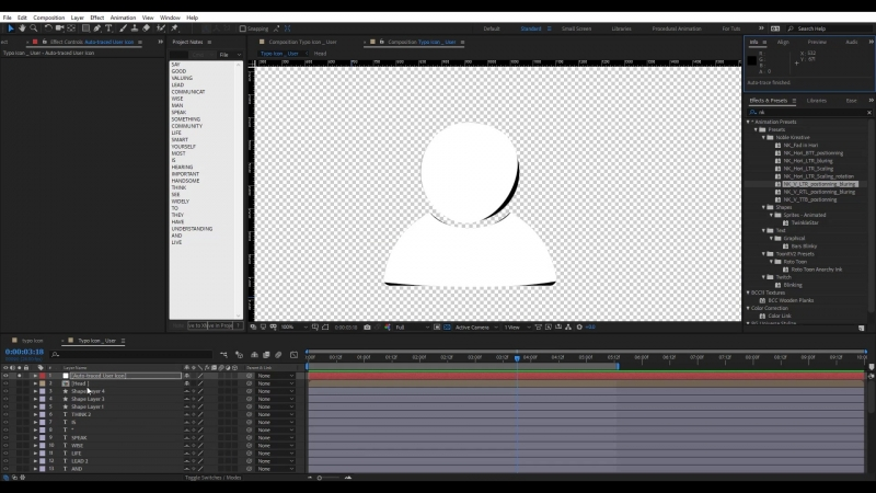 Create an Animated Word Cloud into any shape in After Effects Easy