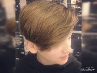 Подростковая модельная стрижка