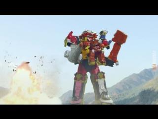 dragonfox Shuriken Sentai Ninninger The Movie - The Dinosaur Lord - русские субтитры
