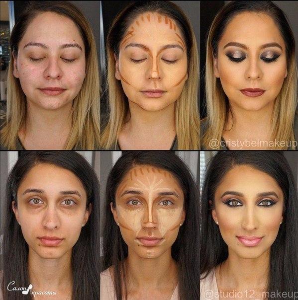 Как вытянуть лицо на