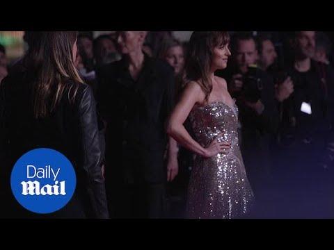 Dakota Johnson and Mia Goth attend premiere of Suspiria