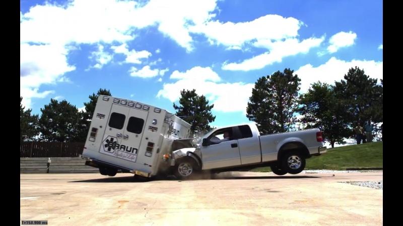 Ambulance Crash Side Impact - Crash Testing by Braun