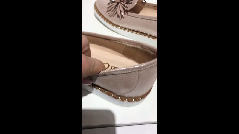 Туфли розовые напыление хризантема