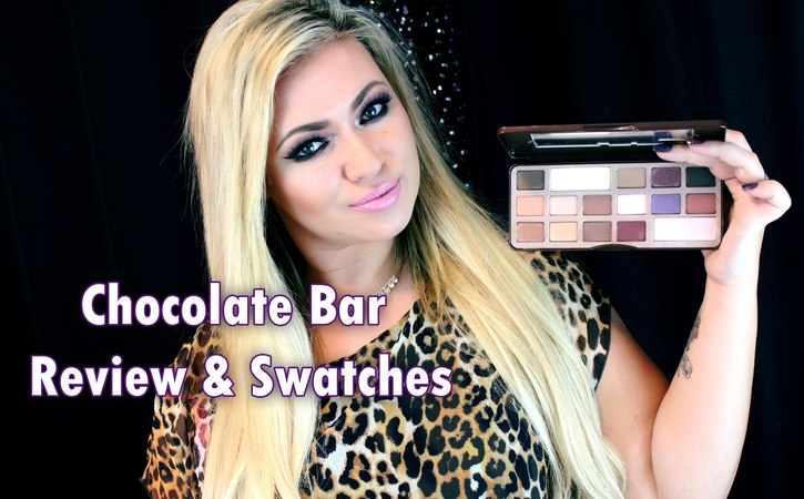 Too Faced Chocolate Bar swatches review and bloopers