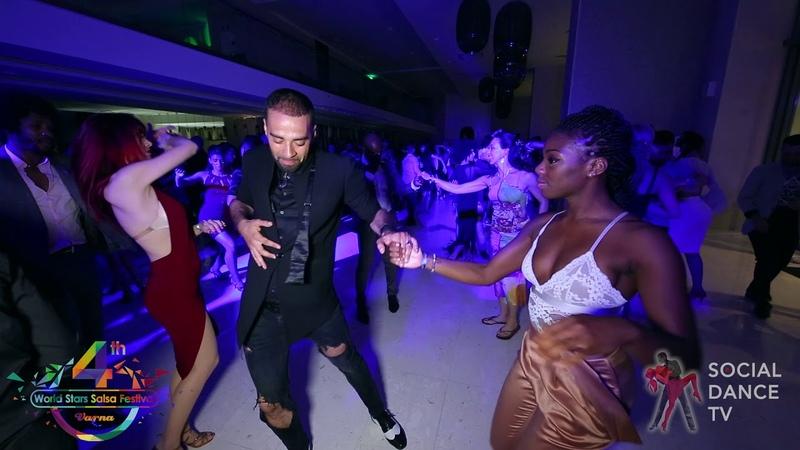 Talal Benlahsen Ines Effoti Salsa social dancing 4th World Stars Salsa Festival