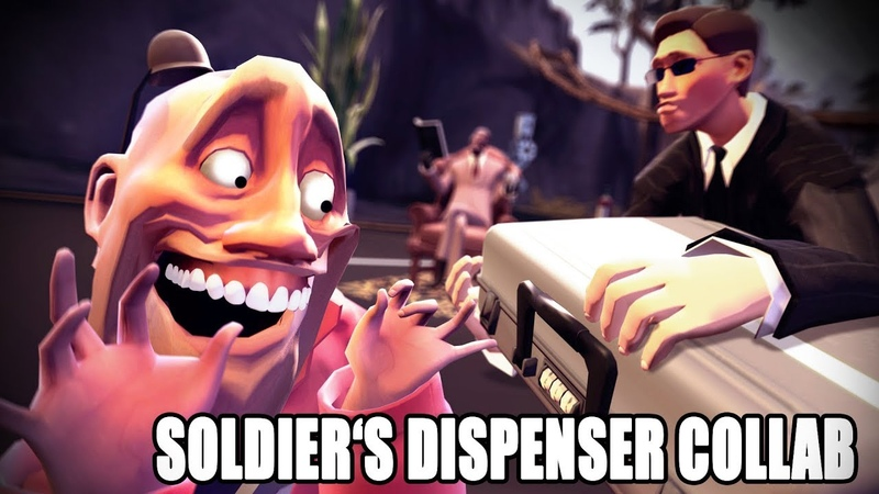 Soldier acquires a briefcase (Soldiers Dispenser Collab Entry)