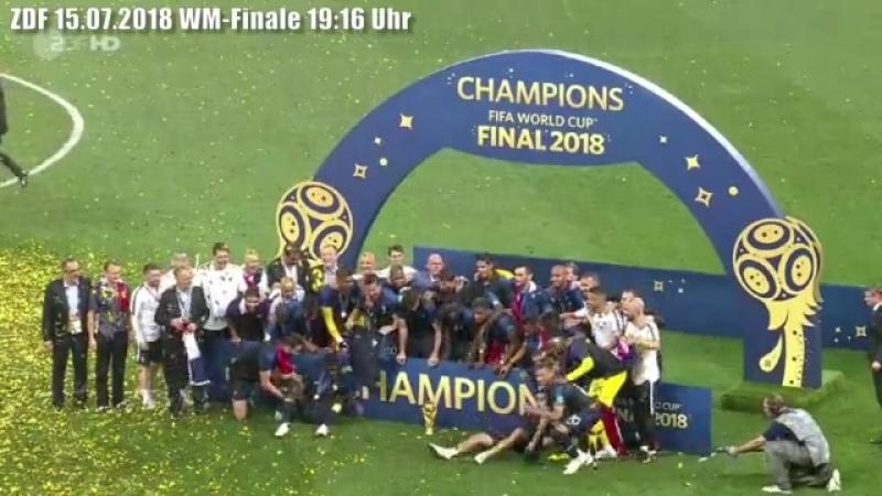 Auch das Finale der Fußball-Weltmeisterschaft missbrauchen die Lügner, Volksverhetzer und GEZ-Schmarotzer des ZDF für politische