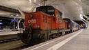 Zugverkehr in der Nacht Salzburg Hbf 4k