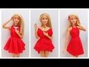 How To Make Barbie Clothes No sew No Glue Doll Clothes
