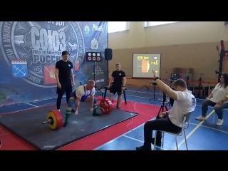Чемпионат Северо-Западного Федерального округа по пауэрлифтингу. Тяга 310 кг.