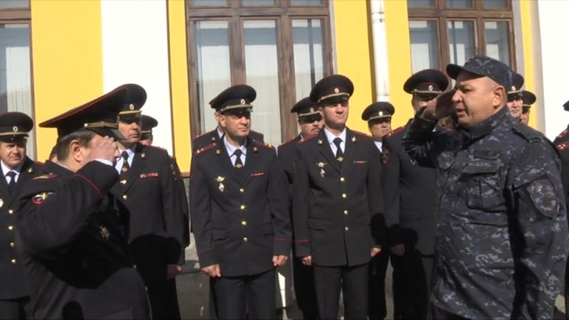 В Томск вернулся отряд сотрудников органов внутренних дел, которые несли службу на территории Северо-Кавказского региона