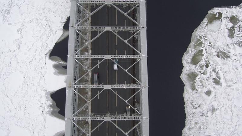 Мост Петра Великого, Artplay, СПб. Первый полёт на Mi Drone.
