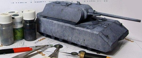 модели танков из бумаги для
