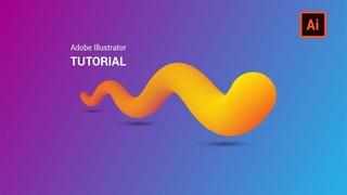 3D Gradient Liquid | Blend Tool Technique | Adobe Illustrator Tutorial