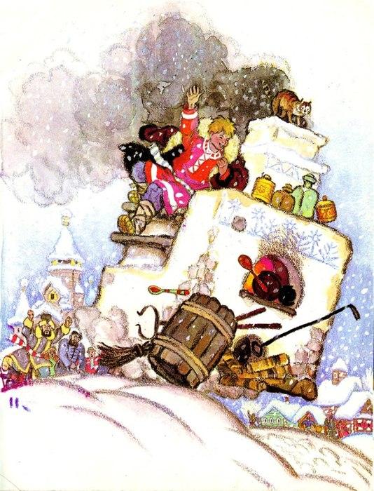 7 самых необычных средств перемещения в русских сказках