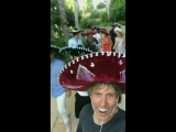 Harry with a sombrero at James Cordens birthday bash in Cabo - August 17 via johnbish100