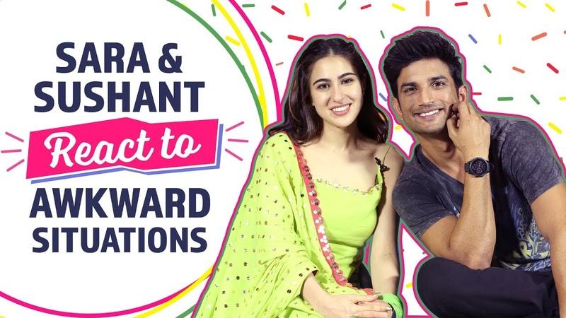 Sara Sushant React to Awkward Situations   Kedarnath   Bollywood   Pinkvilla