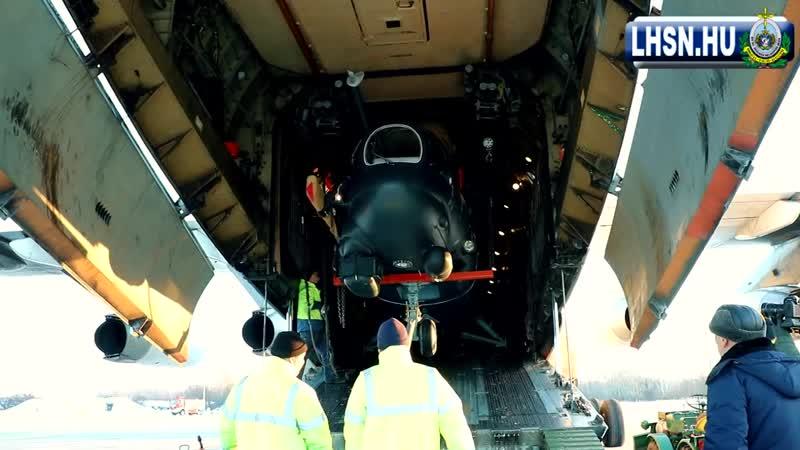 Ми-24П (бортовой номер 338) ВВС Венгрии, прибыл на родину