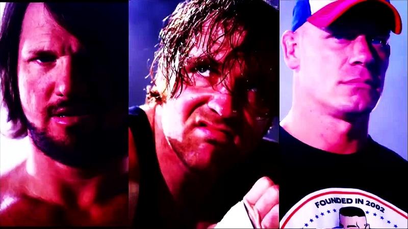 John Cena vs AJ Styles vs Dean Ambrose