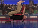David Letterman - Stupid Human Trick Man Traverses a Chair